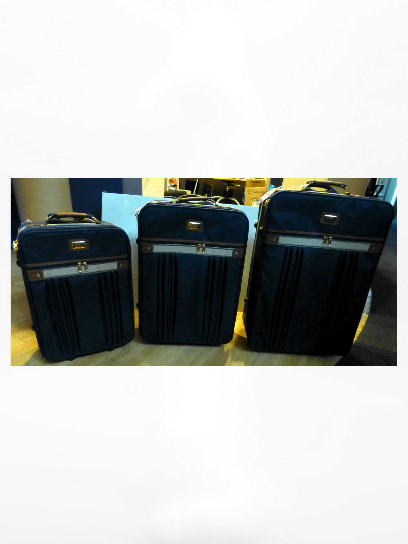 Kofferset 3-delig blauw
