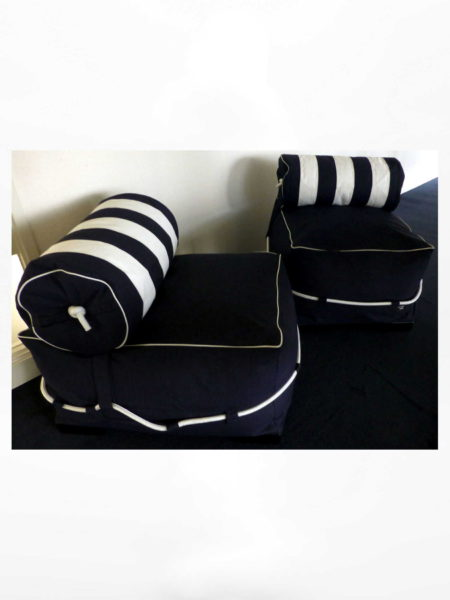 Captain Jack Lounge set Allure Blue/White