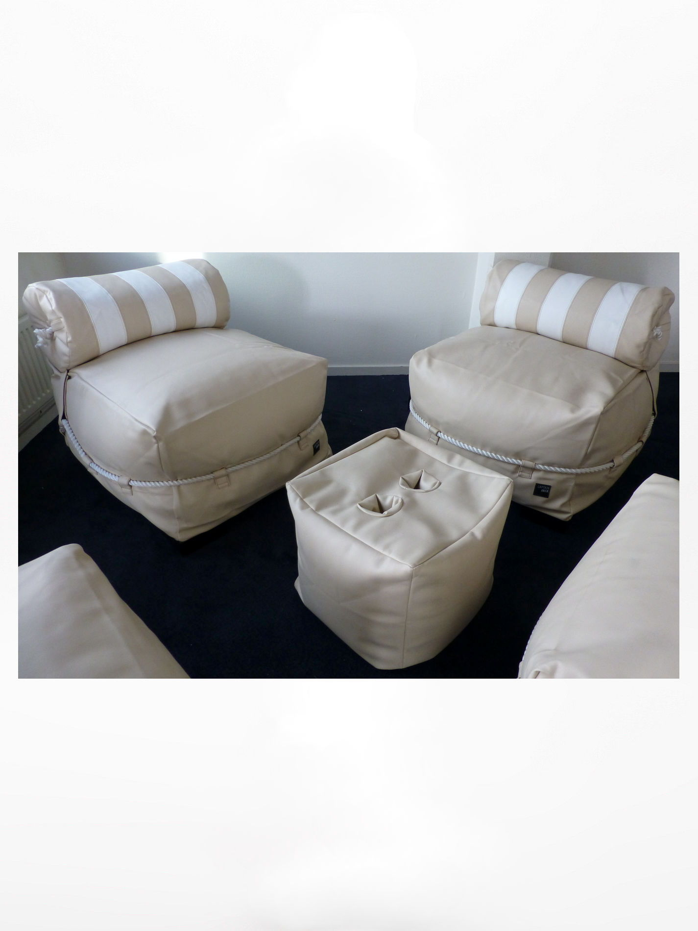 Captain Jack Lounge set Arpatec  Beige/White