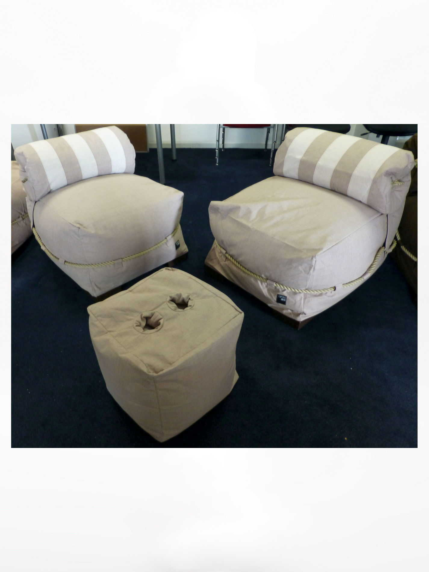 Captain Jack Lounge set Allure Sand/Ivory